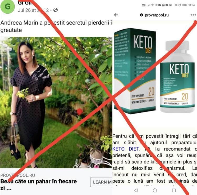 publicitate falsă pierdere în greutate
