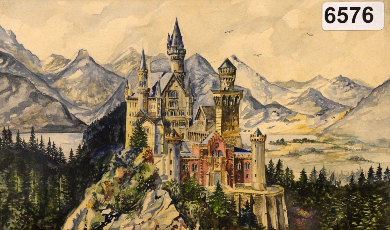 Arta lui Adolf Hitler. Peisaje idilice pictate de Führer
