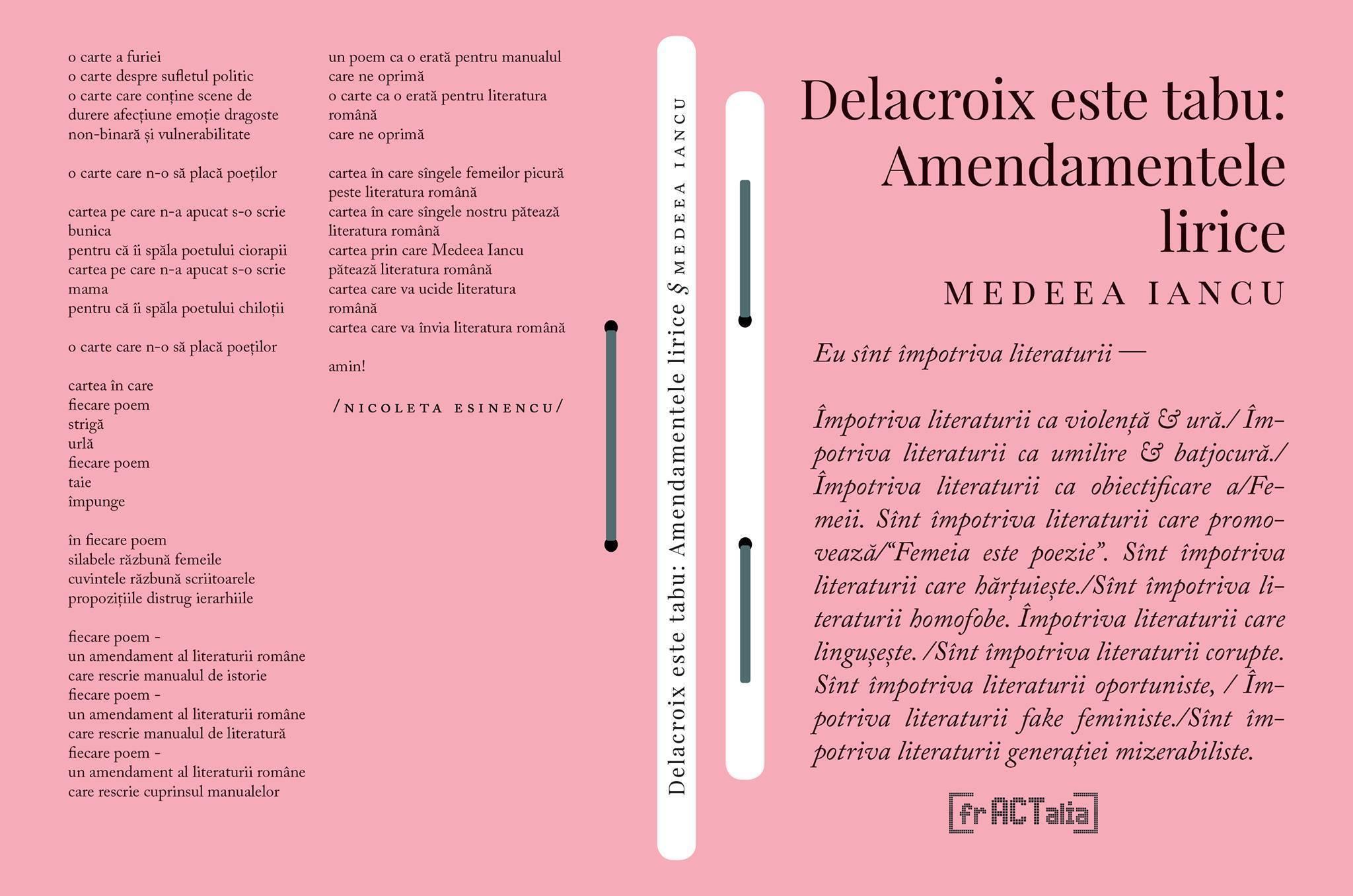 Medeea Iancu - Delacroix este tabu Amendamentele lirice