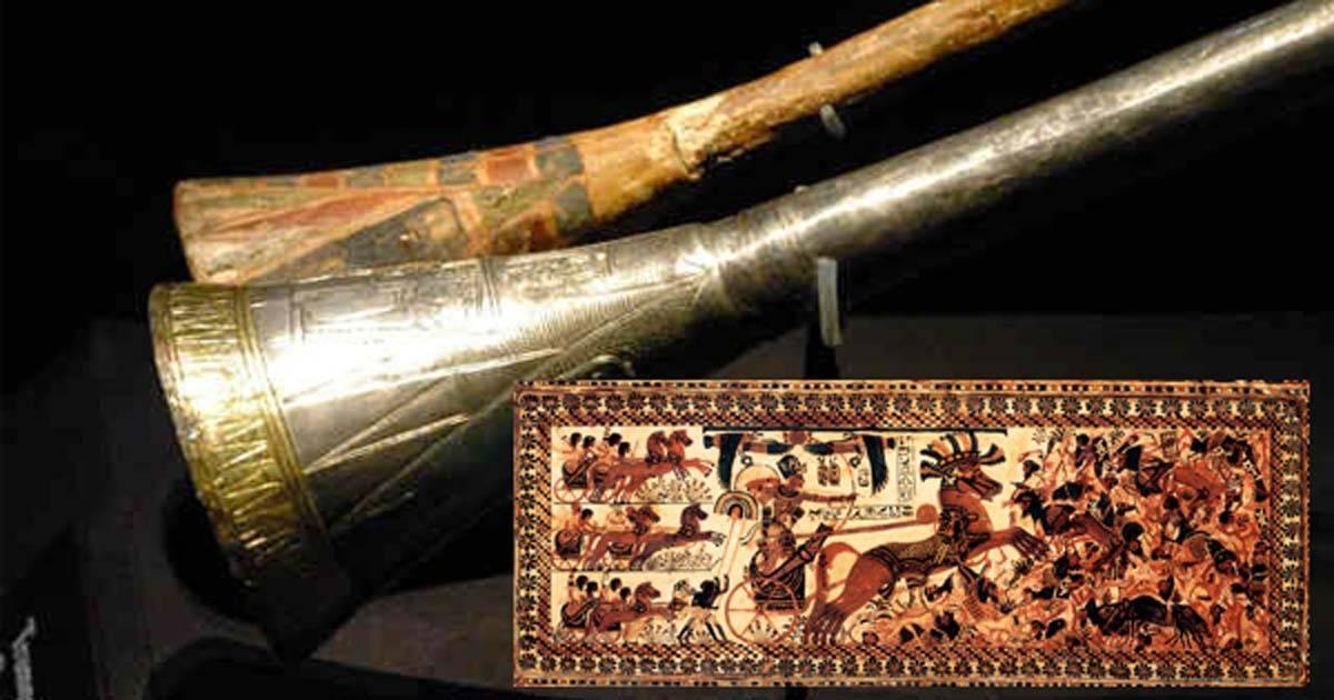 Trompetele descoperite în mormântul lui Tutankhamun: Coincidențe stranii