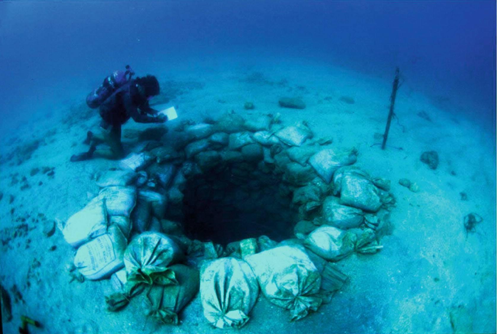 Ruinele scufundate ale așezării umane Atlit Yam din Marea Mediterană