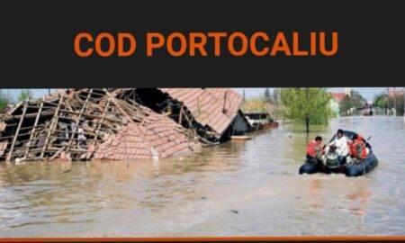 Cod portocaliu de inundații, în mai multe județe din România