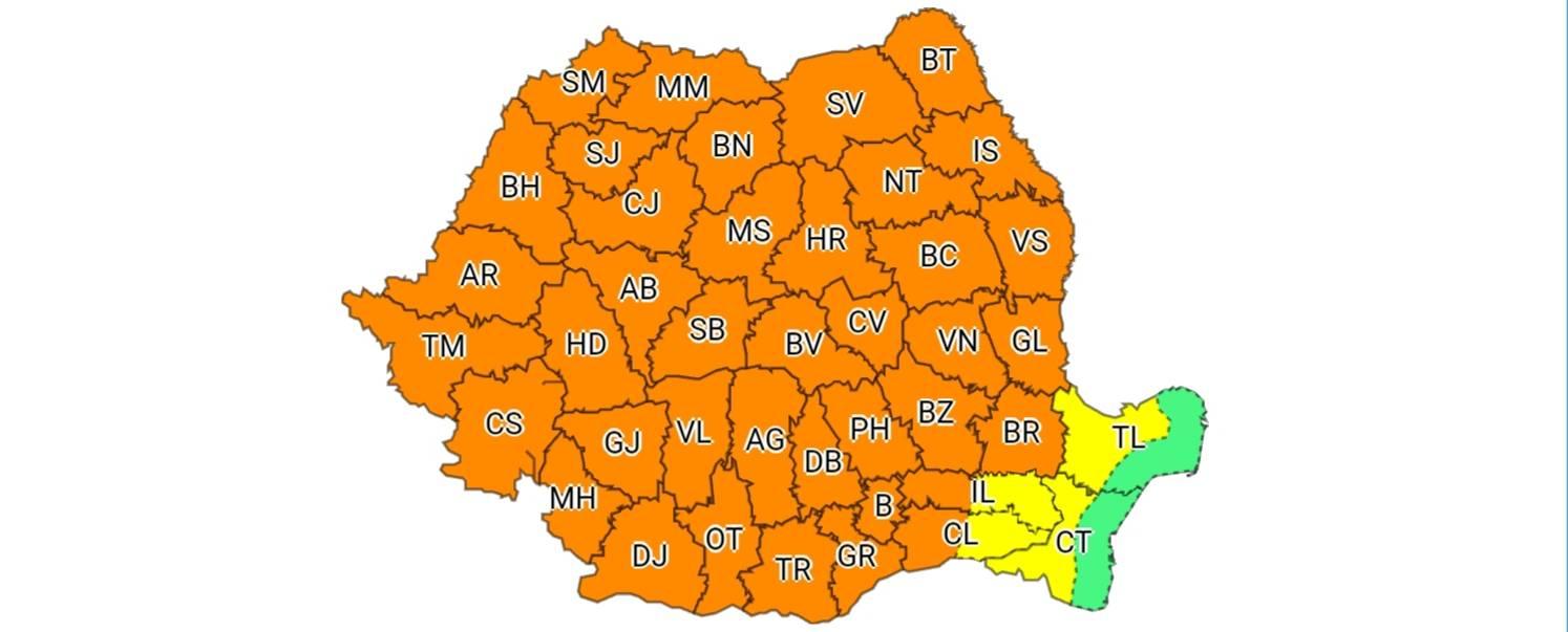 Alertă meteo! România intră în cod portocaliu de vreme severă