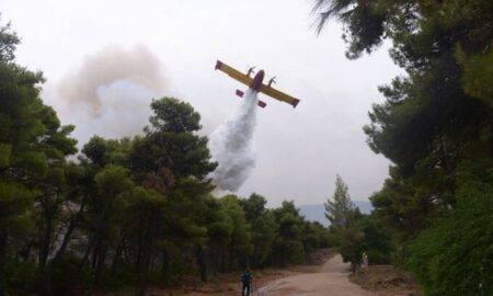Dezastrul continuă în Grecia! Un avion pentru stingerea incendiilor s-a prăbușit