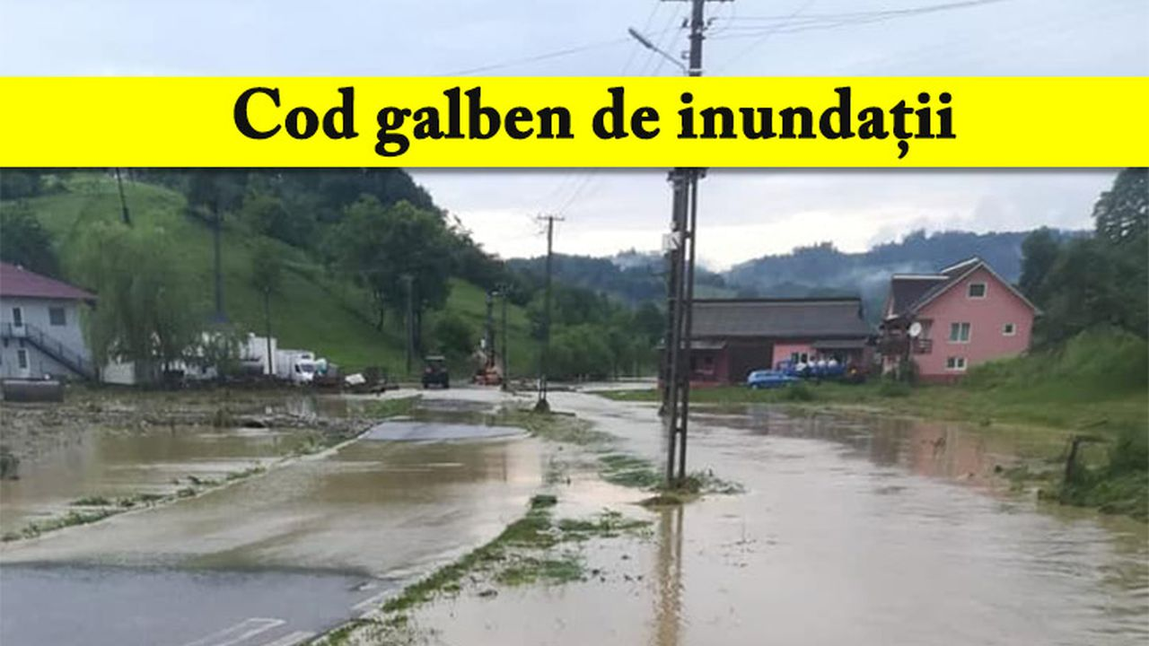 Cod galben de inundații în România