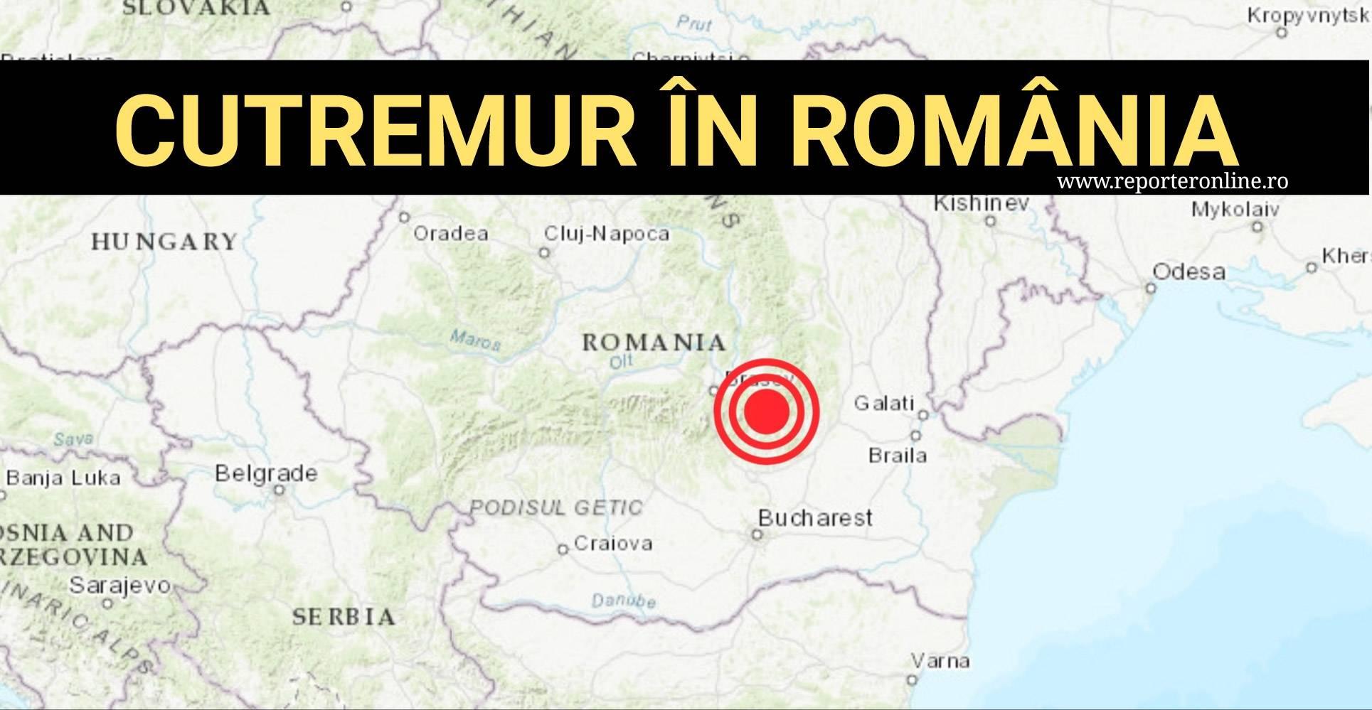 Mai multe cutremure au avut loc astăzi în România și Moldova