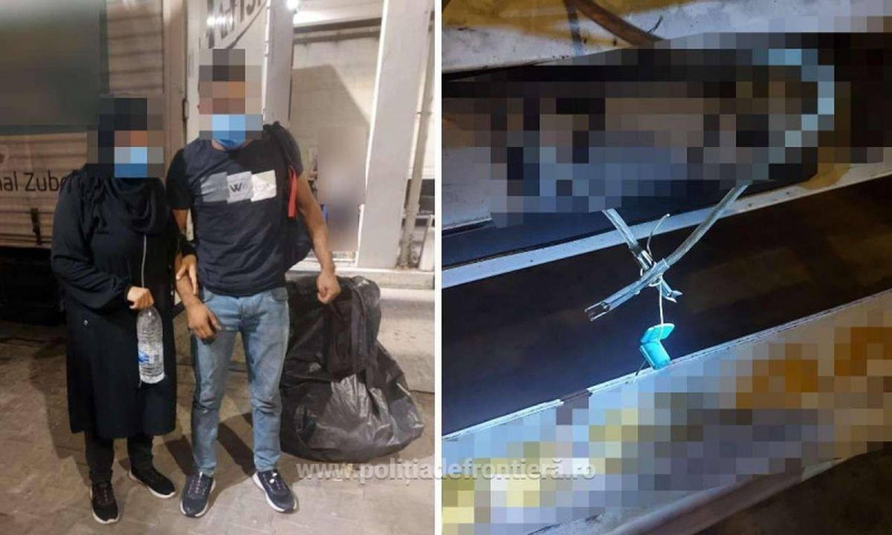 Migranți prinși înfășurați în folie de aluminiu și saci de plastic, la vama din Giurgiu