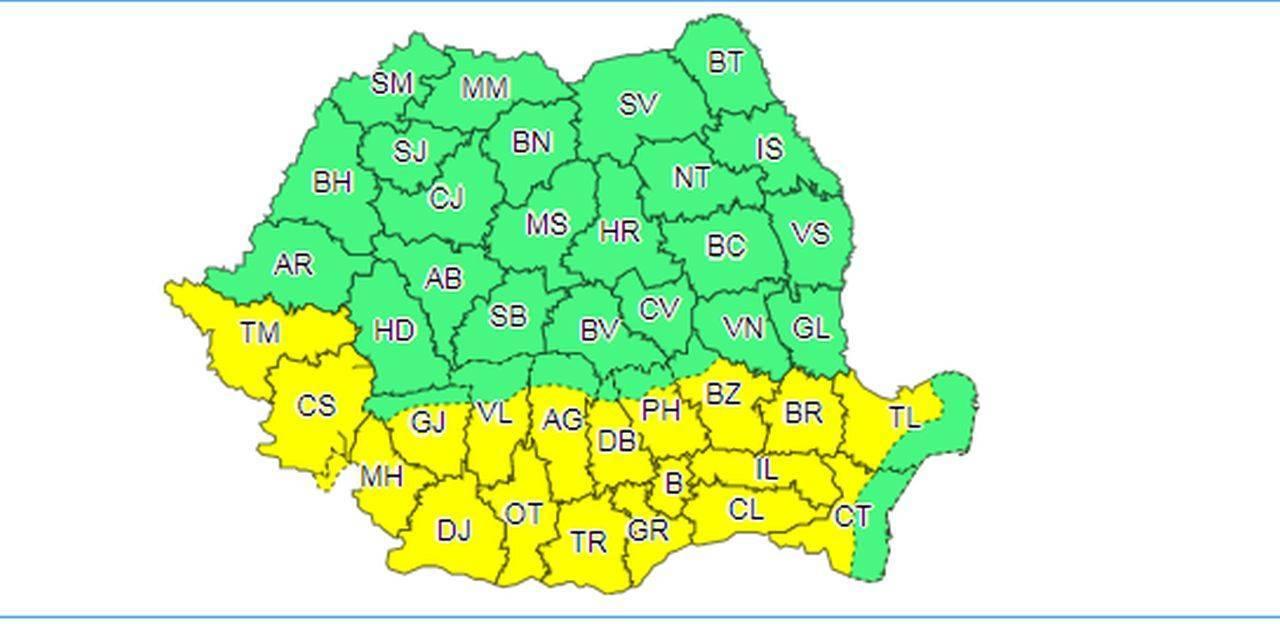 România, sub un nou cod galben de caniculă. Urmează trei zile de foc