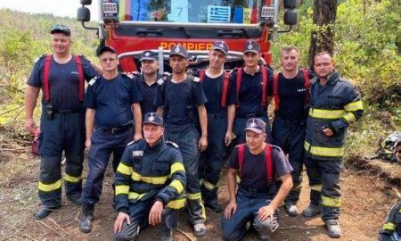 De două ori eroi! Pompierii care au fost în Grecia au intervenit voluntar la un accident în drum spre casă