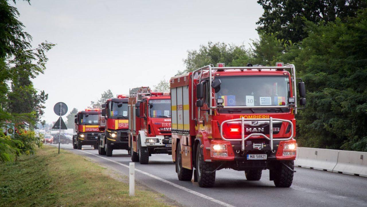 Grecia cere din nou sprijinul României! 142 de pompieri intervin la incendiile de vegetație