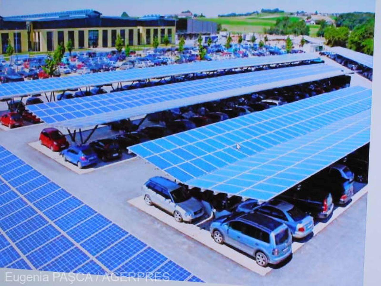 Un oraș din România va avea prima centrală fotovoltaică suprapusă peste parcare