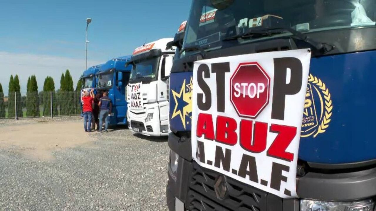 Impozitarea diurnelor i-a scos pe camionagii la protest: ,,Este îndreptat împotriva măsurilor abuzive…