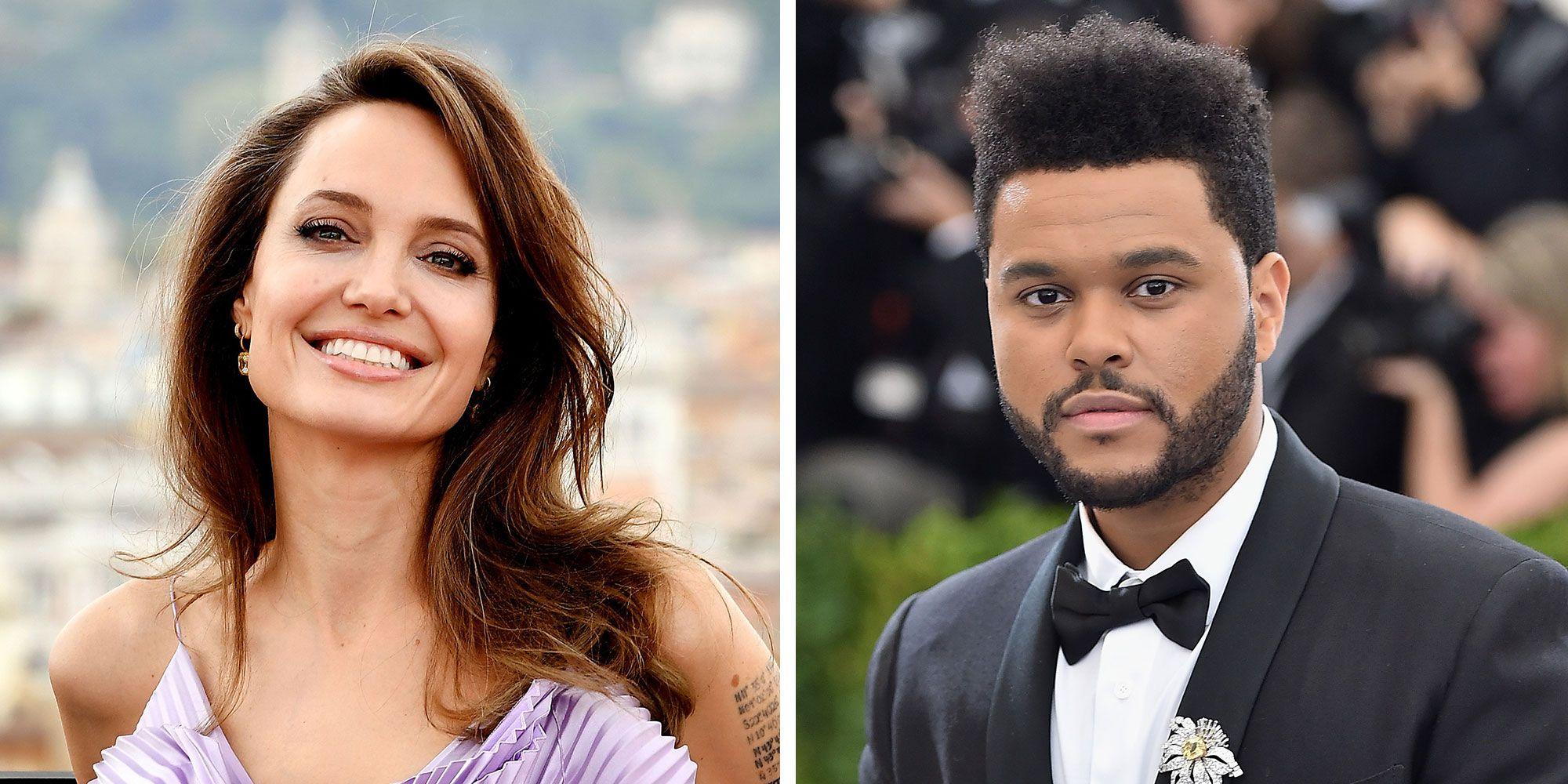 Angelina Jolie, surprinsă din nou în compania lui The Weekend. Să fie acesta noul iubit al celebrei actrițe?