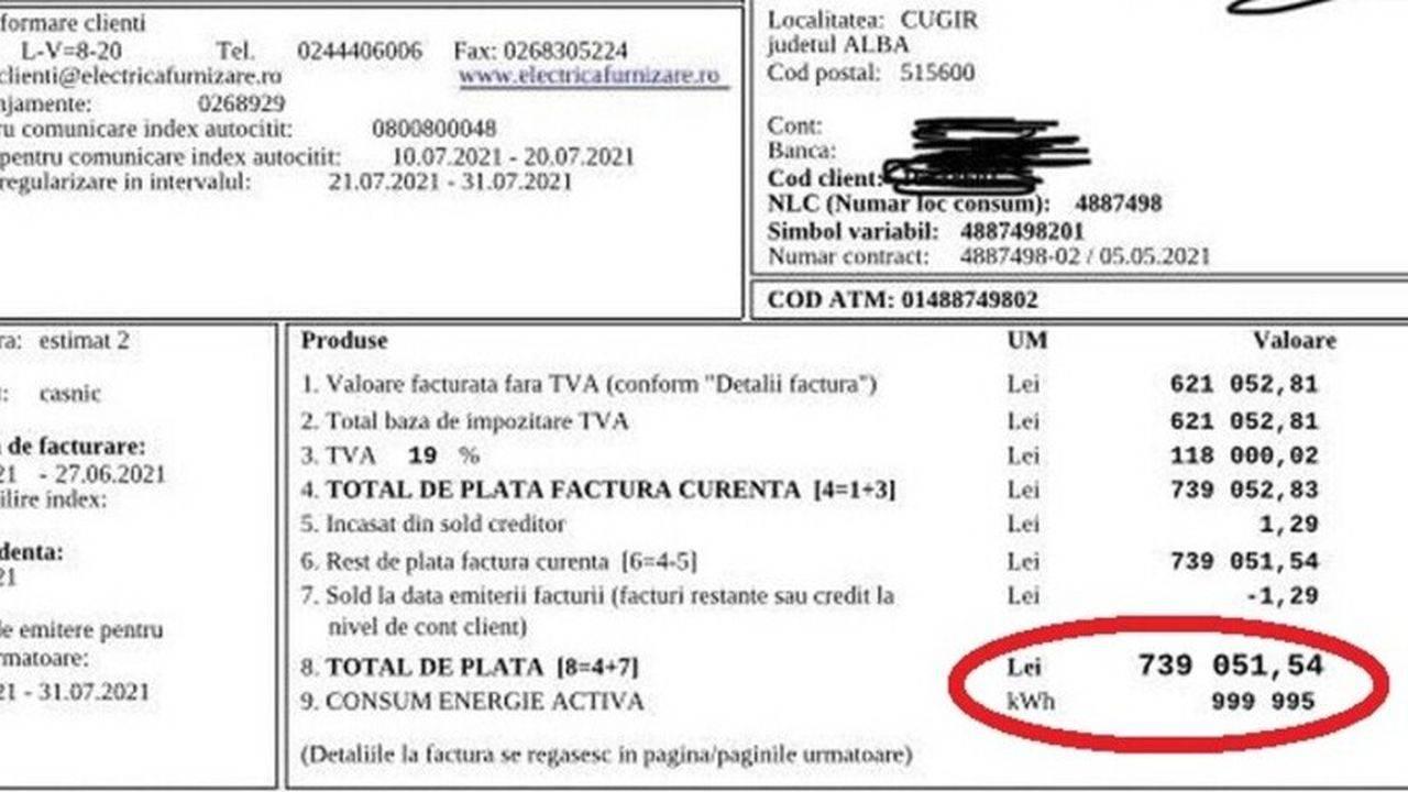 """România – țara lucrului """"bine"""" făcut! Factură de 739.051 de lei, emisă la un apartament gol de 20 de ani"""