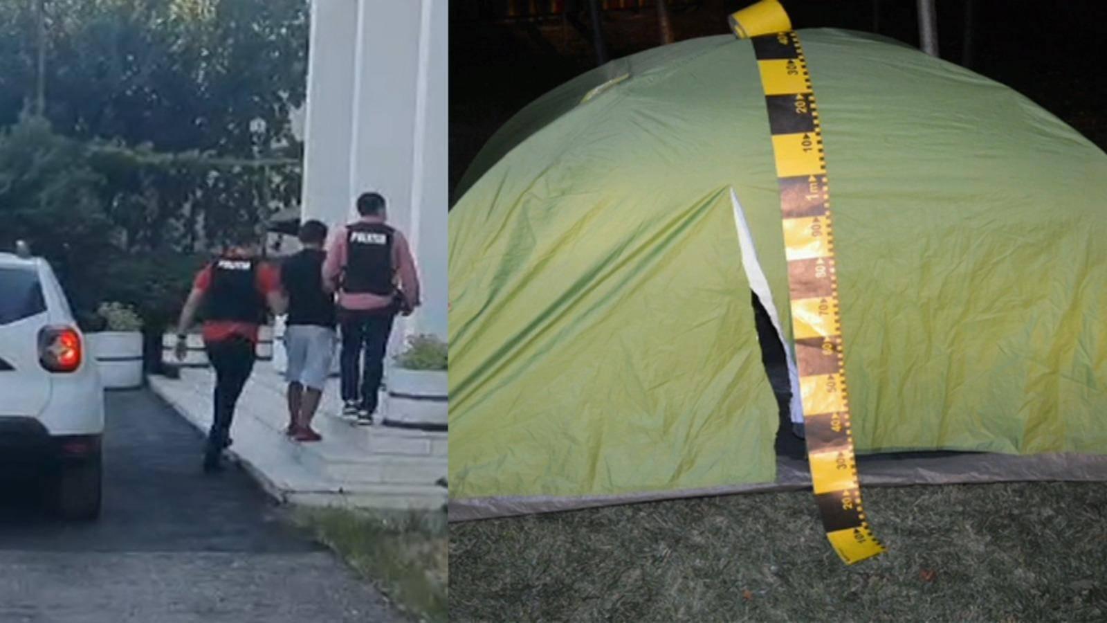 Un pelerin care era cu cortul într-un parc din Craiova a fost jefuit! A rămas fără 2.300 de euro și 19.100 grivne
