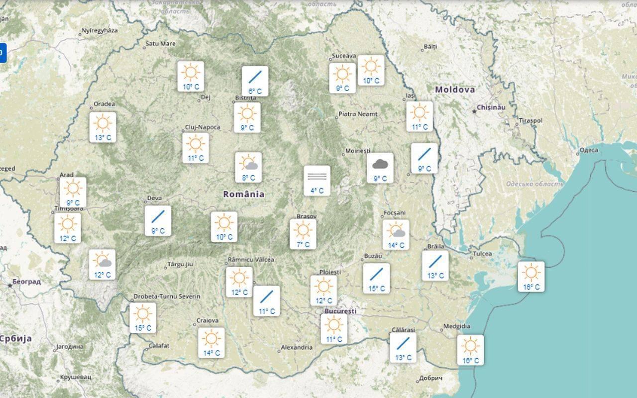 Meteo 13 septembrie. ANM anunță temperaturi ieșite din comun, în cea mai mare parte a țării
