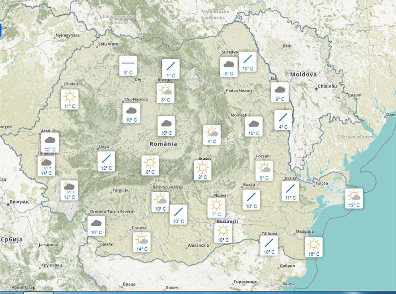 Meteo 20 septembrie. Ploi și vânt puternic, în cea mai mare parte a țării