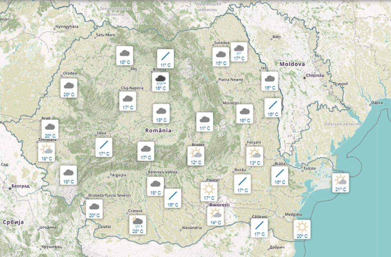 Meteo 17 septembrie. Weekendul românilor, afectat de vreme închisă și ploi