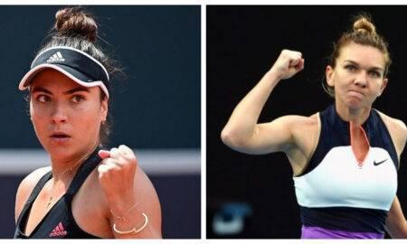 Meci spectaculos între Simona Halep și Gabriela Ruse. Halep a cucerit terenul de tenis