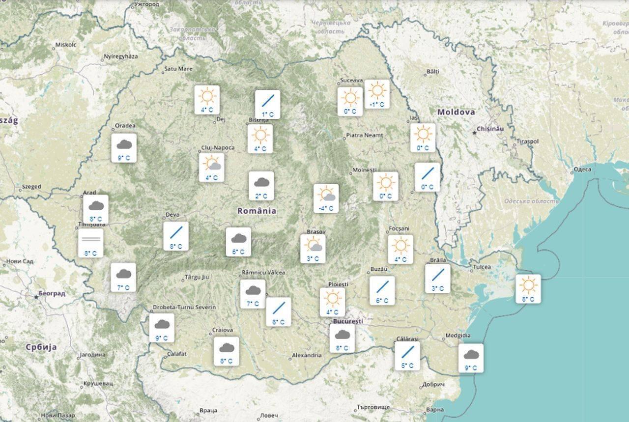 Meteo 10 octombrie. Condiții de iarnă, în cea mai mare parte a țării