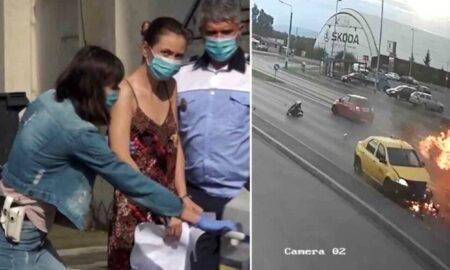 Şoferiţa care a lovit intenționat un polițist pe motocicletă a aflat sentința. Pedeapsa decisă de instanța de fond